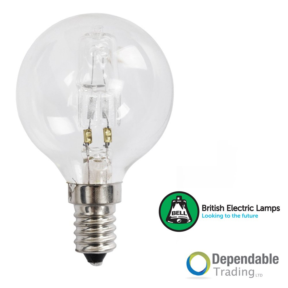 18W Clear SES Halogen Ball Lamp