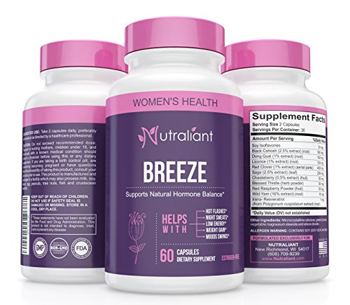 Best Menopause Supplements #1 Menopause Relief from Hot Flashes, Night Sweats, PMS, Mood Swings & Weight Gain. Hormone Balance for Women. Estrogen Free Herbal Menopausal Support Pills w Black Cohosh