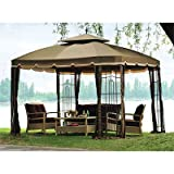 Cheap OPEN BOX Bay Window 10′ x 12′ Gazebo Replacement Canopy Top Cover