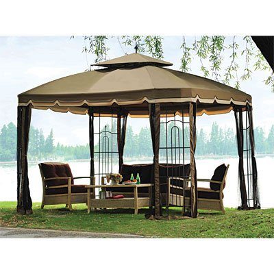 OPEN BOX Bay Window 10' x 12' Gazebo Replacement Canopy Top Cover
