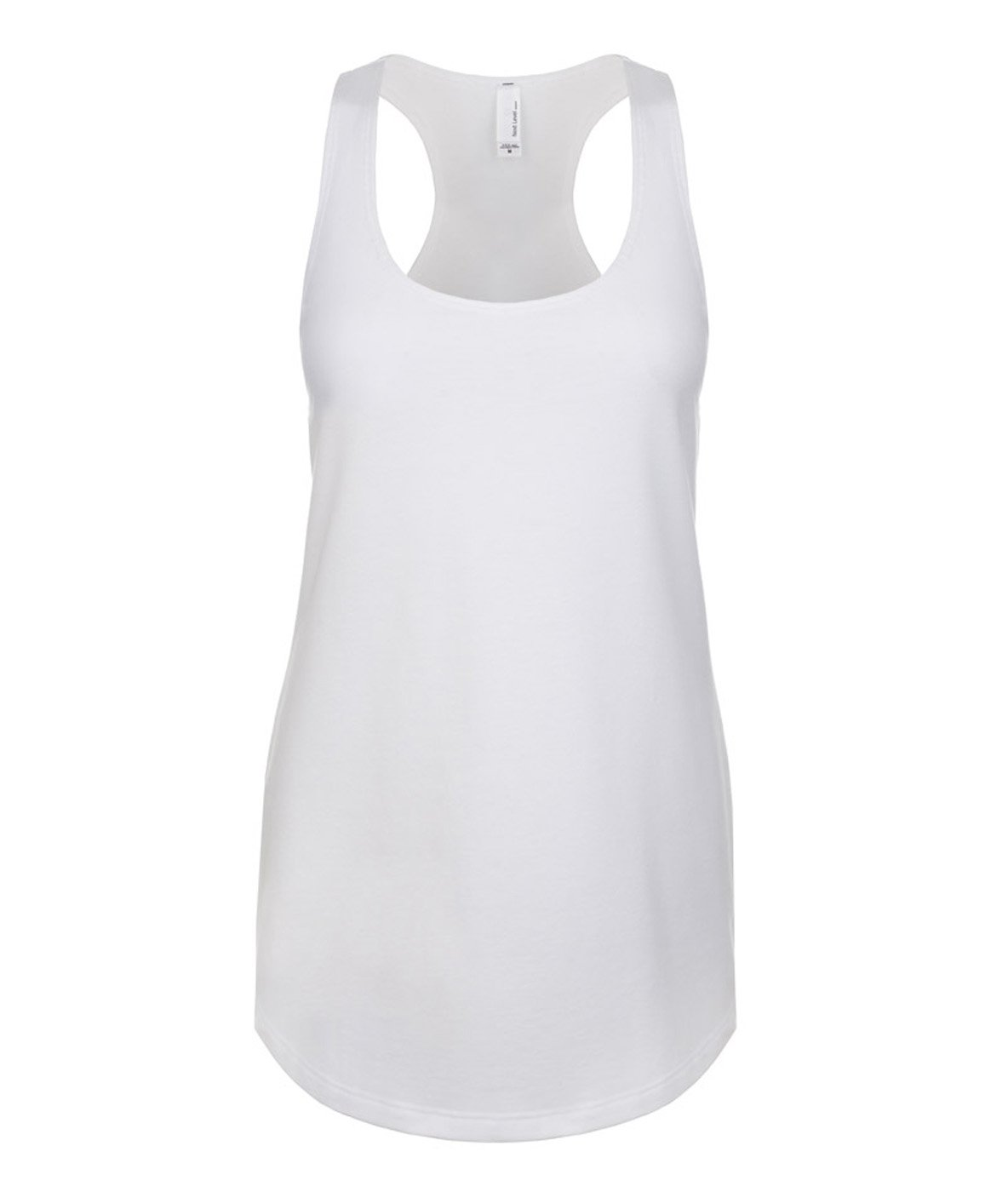 Next Level Ideal Racerback Tank White Large (Pack of 5)