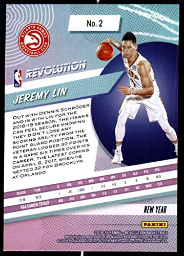 Amazon.com: 2018-19 Revolution Chinese New Year Red Parallel Basketball #2 Jeremy Lin Atlanta Hawks Official NBA Trading Card From Panini: Collectibles ...