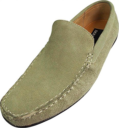 Masimo   Mens Suede Driving Moccasin  Natural 39619 8 5D M Us