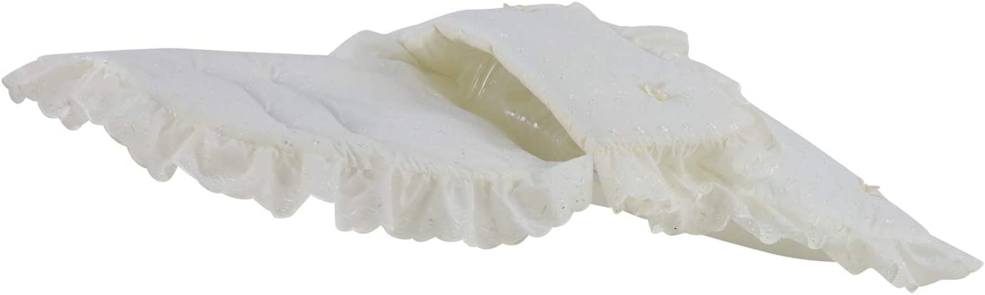 Broderie Anglaise Frilly Universal Fitting Footmuff for Pushchairs Strollers Prams Buggys Pure Cream