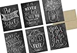 36 Note cards for only $9.99 - Envelopes are free!! This set features 36 blank cards - Chalkboard Inspiration Design - with a glossy finish on the outside of the thank you card. Cards are blank on the inside. Card size: 6.125 x 4.625