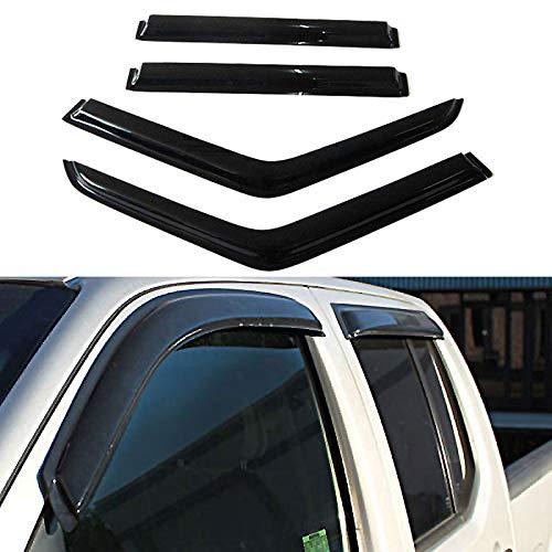 LQQDP 4pcs Front+Rear Smoke Sun//Rain Guard Outside Mount Tape-On Vent Shade Window Visors Fit 84-01 Jeep Cherokee 4-Door