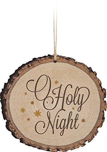y Night Wood Tree Bark 4 inch Christmas Tree Ornament ()