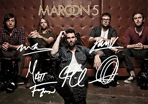 Maroon 5 Band Print Signed (Pre-print Autograph) Adam Levine et al. (11.7