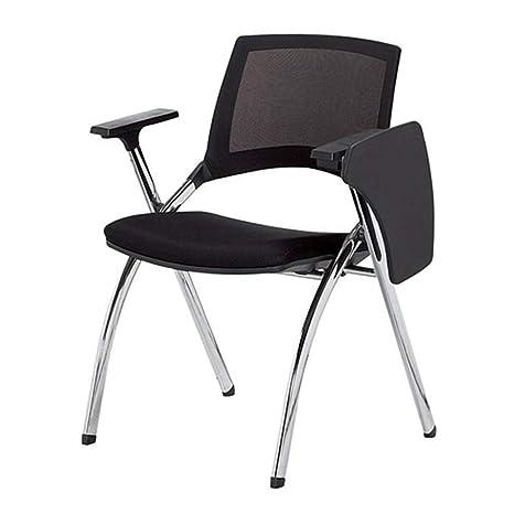 WYYY silla de Oficina Silla Plegable Tablero De Escritura ...