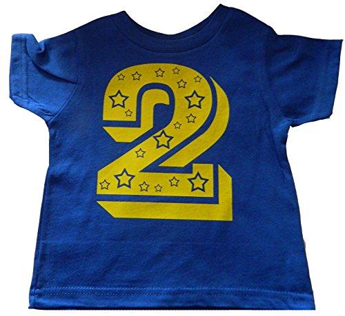 Custom Kingdom Baby Boys' Two Superstar Second Birthday T-Shirt (3T, Royal Blue)