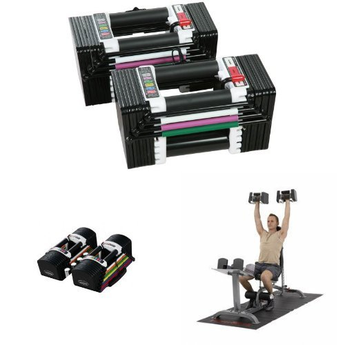 PowerBlock Elite 90lb Dumbbell Set