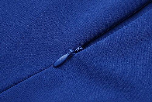 Retro Cocktail Dot Women's Dress to Colyanda Wear Business Work Blue Sleeveless Polka Z1gpnwxtq7