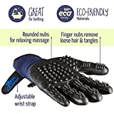 Pet Grooming Gloves - Left & Right - Enhanced Five Finger Design - For Cats, Dogs & Horses - Long & Short Fur - Gentle De-Shedding Brush - Your Pet Will Love It