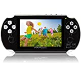 Handheld Game Console,YANX Classic 64Bit Portable Video Game With 600 Games Built in Console Game Player Birthday Gifts for Boy Kids Children (Black-1)