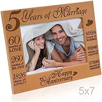 Amazon Kate Posh 5 Years Of Marriage Photo Frame Happy 5th