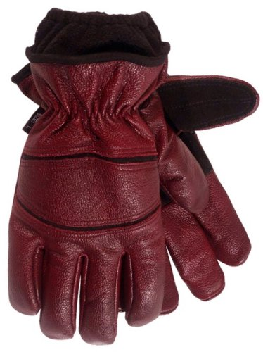 Carolina Gloves 20001 Burgundy Leather Glove for Extreme Cold Weather, Medium