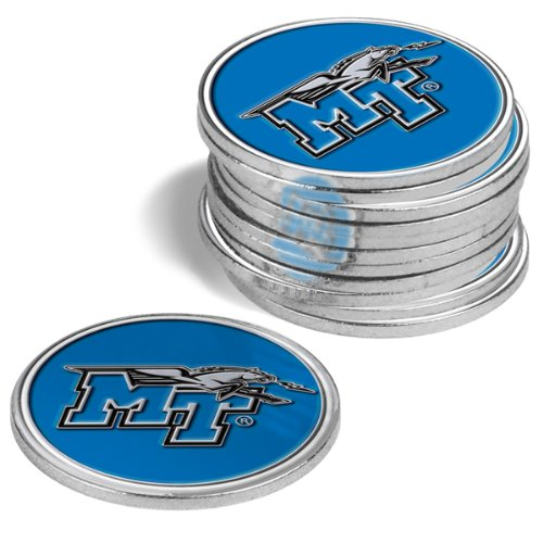 Middle Tennessee StateブルーRaiders Golf Ball Markers ( 4 Pack )   B00DOPX63Q