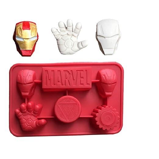 Lindo juguete de los Vengadores Super Hero DIY 3D silicona ...