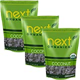 Organic Dried Coconut Smiles by Next Organics, 6 Oz, Value Pack of 3 For Sale