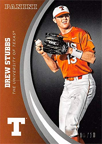 Drew Stubbs baseball card (Texas Longhorns) 2015 Panini Team Collection #61 Black Edition LE 5/10