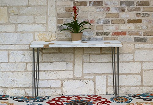 White Farmhouse Industrial 46 Inch Console Table Review