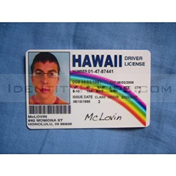 Card Not Superbad Products Fake Office License Superbad Hawaii Novelty - Id ca Mclovin Fogel Drivers Amazon