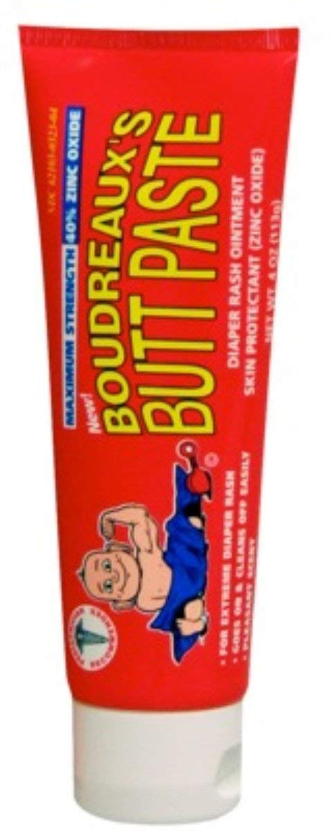 Boudreaux's Maximum Strength Butt Paste Ointment 4 oz (Pack of 6)