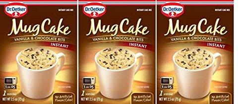 Dr. Oetker Instant Mug Cake Mix - Vanilla & Dark Chocolate Bits - Single Serving (Pack of 3)