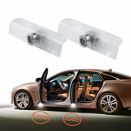 DELEIKA - Nissan/Infiniti -No Drilling Changeable Courtesy Ghost Shadow Lights LED Car Door Courtesy Laser Projector Lamp welcome Logo Light 2-pc set (Logo.2(Infiniti))