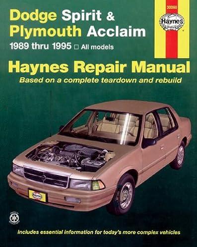 51DGQsY8FVL._SX397_BO1204203200_ dodge spirit & plymouth acclaim 1989 thru 1995 (haynes repair  at soozxer.org
