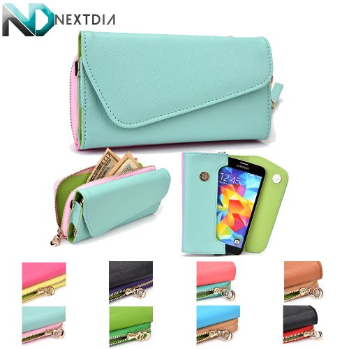 lg-g-pro-2-womens-hand-clutch-with-shoulder-strap-semi-glossy-iceberg-blue-and-powder-pink-with-matt