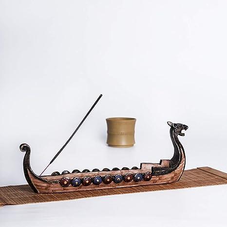 Details about  /Aromatherapy Yoga Incense Stick Holder Home Decor Dragon Boat Burner Ash Catcher