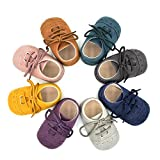 Dukars Baby Boys Girls Soft Sole Moccasins Lace-up