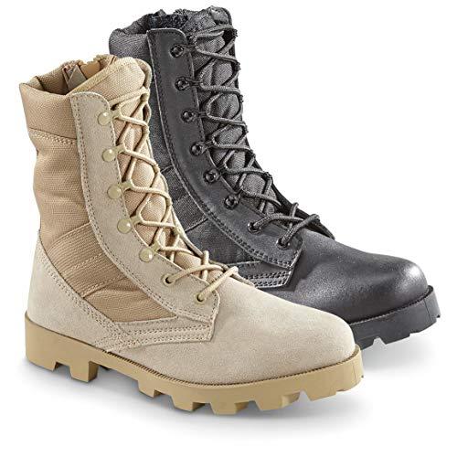 Blackrock Men's Side Zip Jungle Boots, Black, 9D (Medium)