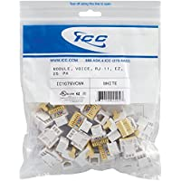 ICC CAT3JK6PKWH IC1076VCWH - 25PK Cat3 Jck 6Con. - White