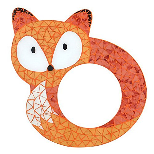 Something Different Mosaic Fox Mirror (One Size) (Orange) by Something different