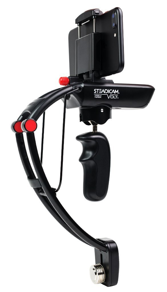 Steadicam Volt electronic handheld gimbal stabilizer for iPhone 6/6+/7/7+, Samsung S8/S8+, Google Pixel, Sony Experia & GoPro HERO 5/4/3 cameras, no more shaky videos by SteadiCam