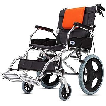 Amazon.com: SMJZQ Silla de ruedas portátil plegable de viaje ...