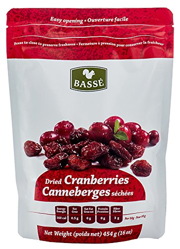 Dried Cranberries, 1 Pound Craisins Bag from Basse Dried Fruits - 1lb Bag of Nutritious Cranberries, Healthy Dried Cranberries, A Great Snack full of Flavor (1 Pound Bag)