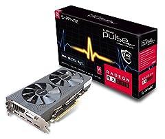 Sapphire Radeon PULSE RX 570 4GB GDDR5 DUAL HDMI/DVI-D/DUAL DP OC w/backplate (UEFI) PCI-E Graphics Card.