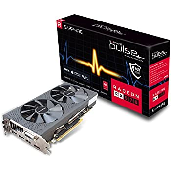 Sapphire Technology Technology Radeon 11266-04-20G Pulse RX 570 4GB GDDR5 Dual HDMI/ DVI-D/ Dual DP OC with Backplate (UEFI) PCI-E Graphics Card