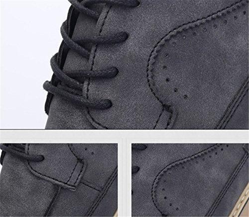 Bininbox Hombres Clásico Moderno Oxford Wing Tip Zapatillas De Deporte De Moda Casual Vestido Gris