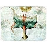 Caroline's Treasures Mermaids and Mermen Mermaid Tail Glass Cutting Board, Large, Multicolor