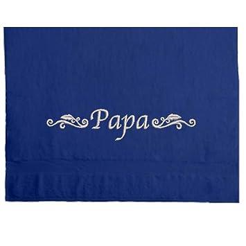 Toalla toalla bordada con Mama o Papa y Ornament 550 g/m2. El regalo