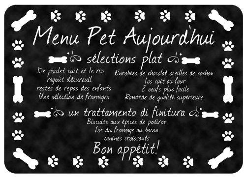 Bungalow Flooring Premium Comfort Floor Mat, 22 by 31-Inch, French Pet Menu (Menu Foods Pet Food)