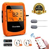 Bluetooth Meat Smoker Thermometer for Grilling With APP - Digital Wireless Remote Grill