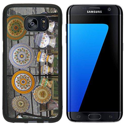 Liili Samsung Galaxy S7 Edge Aluminum Backplate Bumper Snap Case Colorful Spanish ceramics in Toledo Spain (Toledo Ceramic)