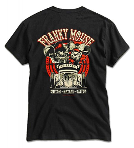 Franky-Mouse-Mens-Speedway-Racer-50s-Rockabilly-Kustom-Hot-Rod-Tattoo-T-Shirt