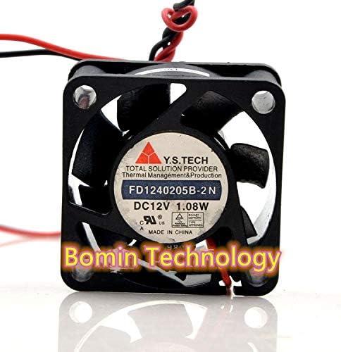 Bomin Technology for Y.S.TECH FD1240205B-2N 12V 1.08W 4CM Switch Silent Cooling Fan
