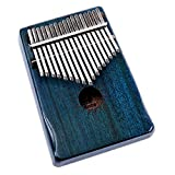 Walter.D Mahogany Tone Wood Kalimba, Professional 17 Keys Acoustic Finger Thumb Piano Music Gift (Blue)